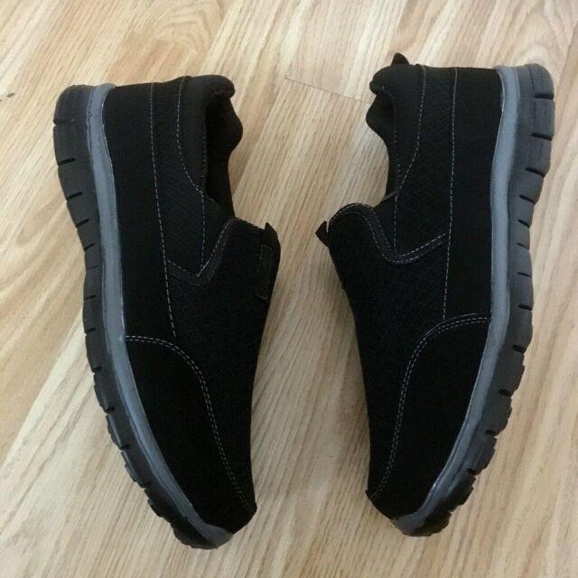 09cbf11bd94 Men Black Wide Orthopedic Diabetic MEMORY FOAM Shock Absorb Trainer Shoe  Size