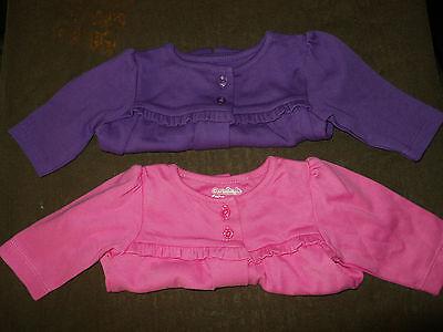 Baby Girls Garanimals Solid Jacket Sz NewBorn,0-3M,3-6M,6-9M