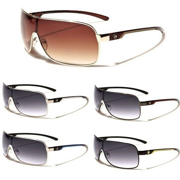 L/XL Size Men Women Square Aviator's Sunglasses Big Celebrity Shield Shades