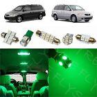 8x Green LED lights interior package kit for 1999-2004 Honda Odyssey HO2G