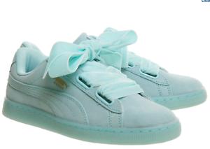 £50 Blue Rrp Bnib Laces Trainers Suede Velvet 5 Size Puma Heart Aruba wwH4OPq