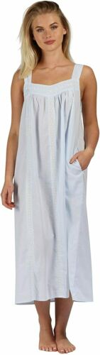 Details about  /The 1 for U Nightgown 100/% Cotton Sleeveless Pockets Meghan