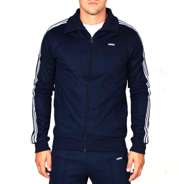 Adidas Original Beckenbauer Men`s Track Top In Navy AB7766 , Size S
