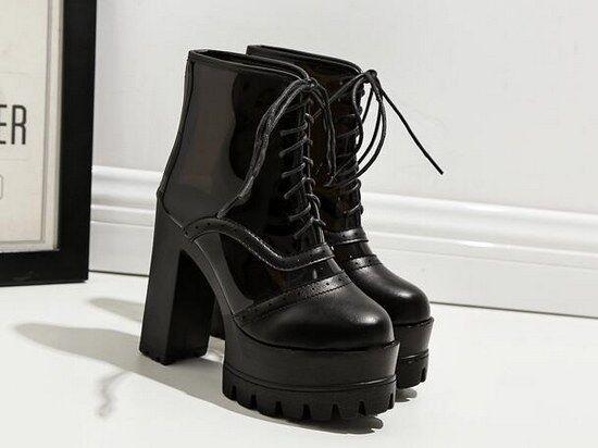 botas verano cordones bajo plataforma 13 8984 cm negro como piel 8984 13 5c0bfe