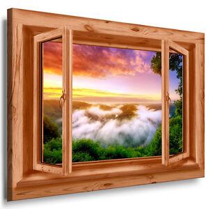 Blick aus dem fenster poster  Leinwand Bild Fenster blick 27 Bilder Wolken Berge Flüsse ...