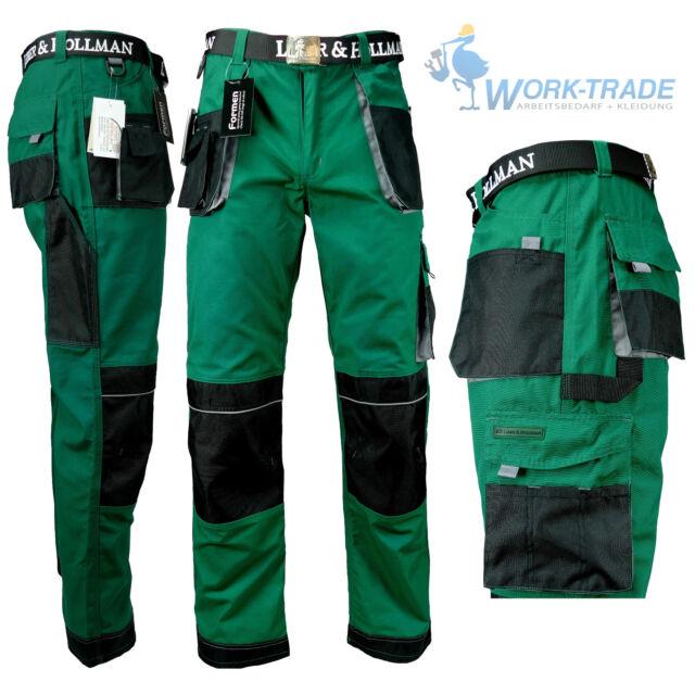 detaillierte Bilder super günstig im vergleich zu super service Arbeitshose Bundhose Arbeitskleidung Herren Hose Grün Schwarz Grau Gr. 46 -  62