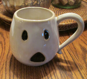 16267a2ee93 Details about 2 New Pottery Barn Set/2 ~GHOST MUG~Coffee~Tea~Mugs~New in  original box