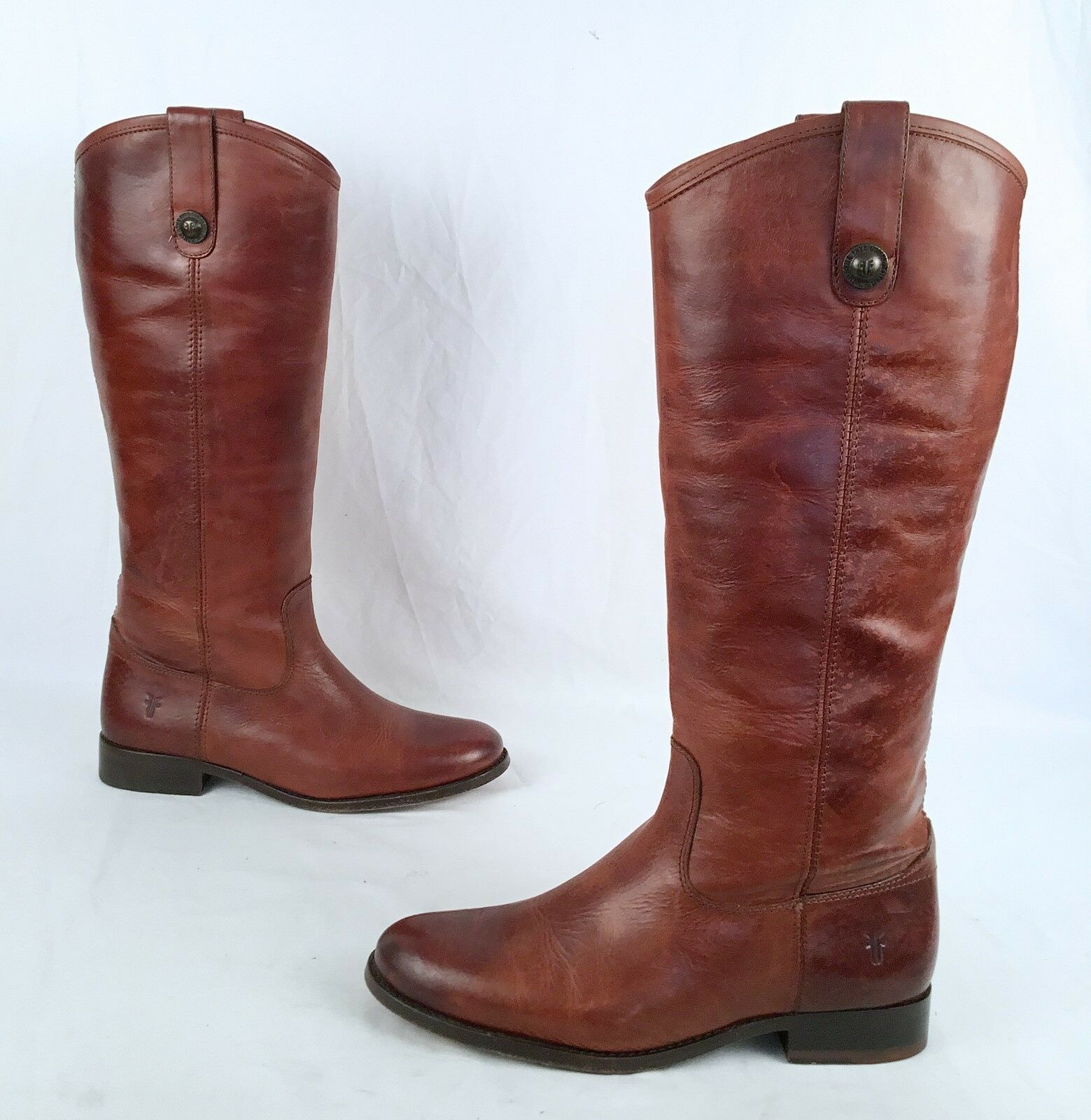 Frye- Melissa Button Boot- Cognac- Size 7 B  (J5)