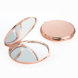 ROSE-GOLD-Engraved-Compact-Mirror-Personalised-Christmas-Xmas-Bridesmaid-Gift