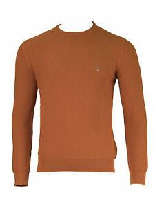 GANT-Burnt-Ochre-Men-039-s-O1-Texture-Cotton-Crew-86571-NWT