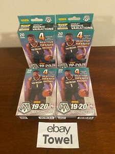 4-Lot-Panini-Mosaic-Basketball-2019-2020-NBA-Hanger-Box-Factory-Sealed
