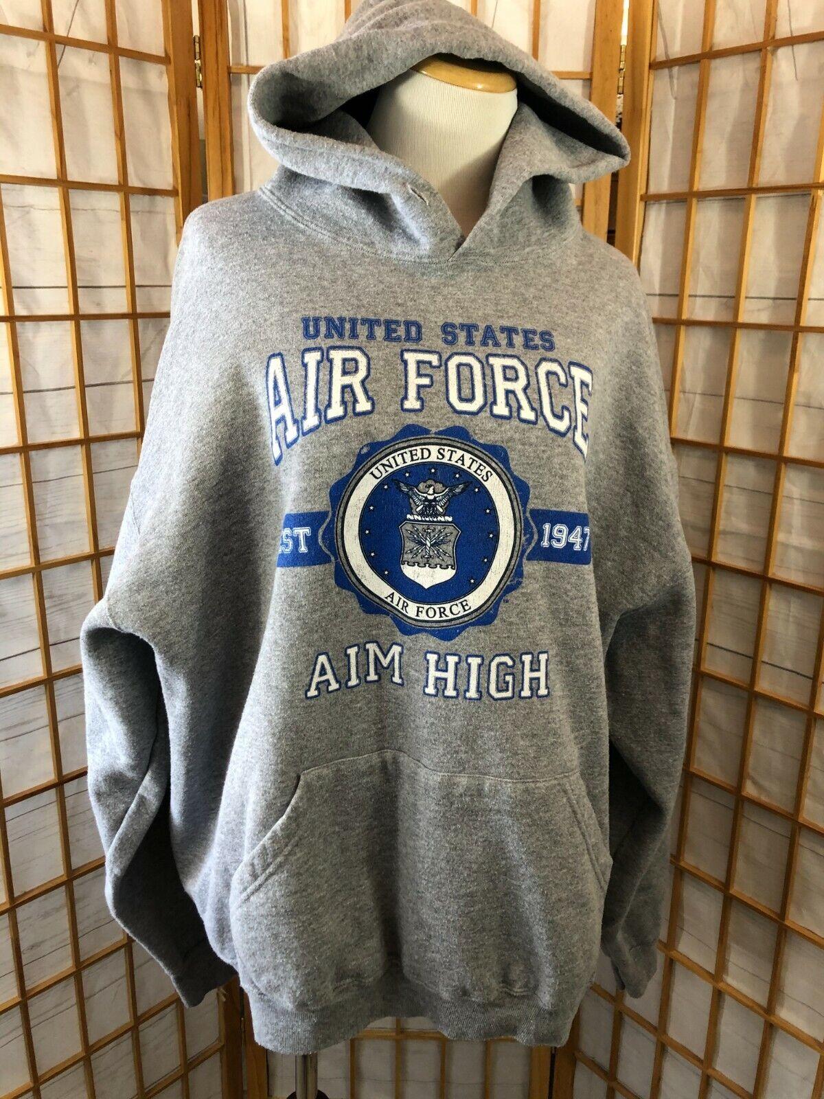 JBTS American Pride Grey US Air Force Long Sleeves Hoodie Sweatshirt Pullover