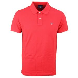 Polo 2201 Gant 620 Red Solid Shirt Men's Piqué zxqFw85
