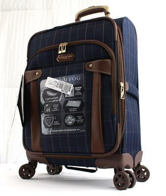 London Fog 20 Hampton Navy Gingham Luggage Luggage 20 Inches Blue For Sale Online Ebay