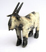 Yard Art Welded Mini Metal Goat Sculpture - Metal Art - Home Decor -
