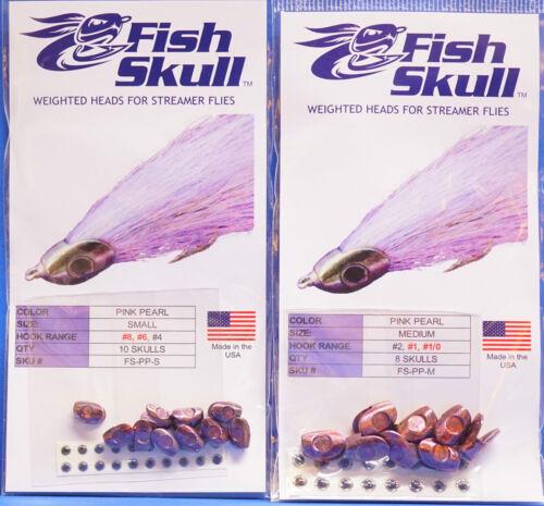 Baitfish Heads 2 Größen small, medium PINK PEARL