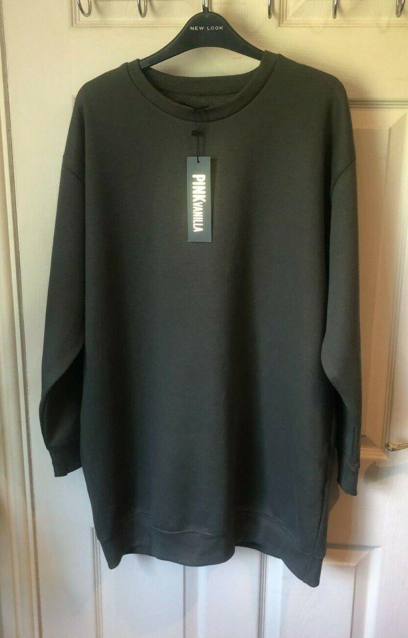 PINK VANILLA @ NEW LOOK Women's Khaki Sweatshirt Sweater UK Size M BNWT