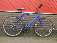APOLLO CX10 Gents Hybrid Bike Bicycle Town Cycle City 18 Speed Shimano Blue Mens