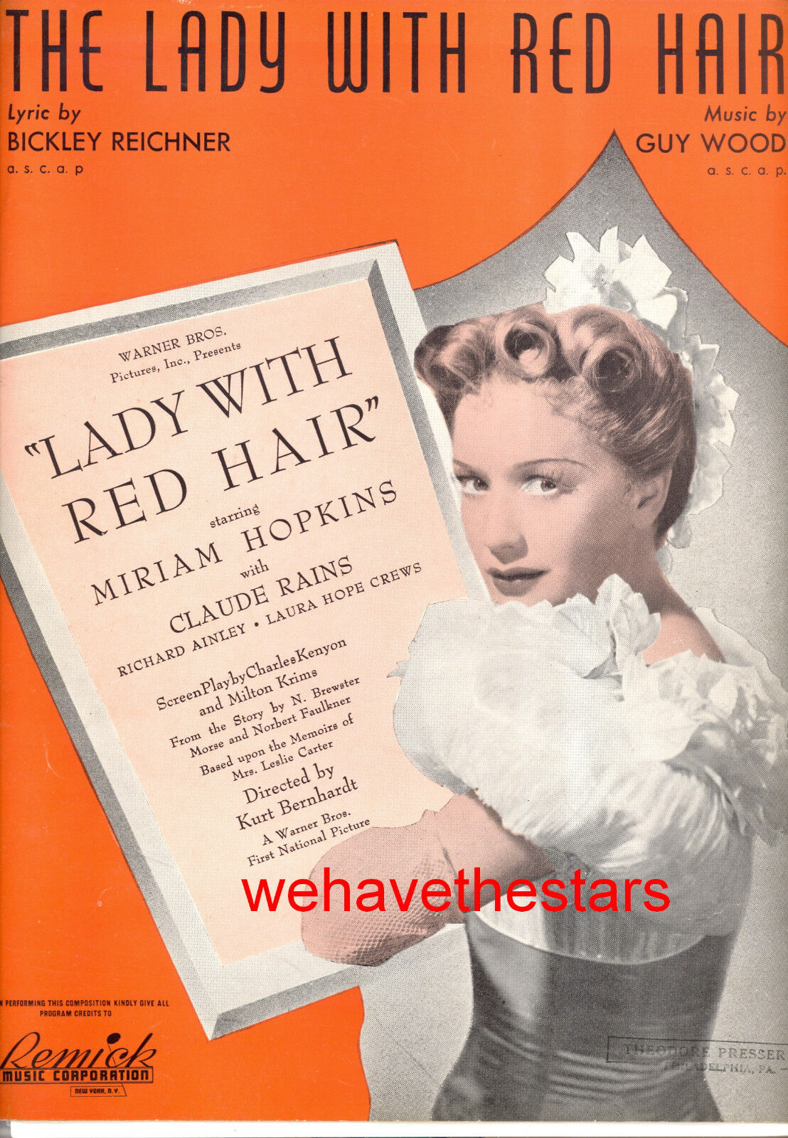 LADY WITH ROT HAIR Sheet Music