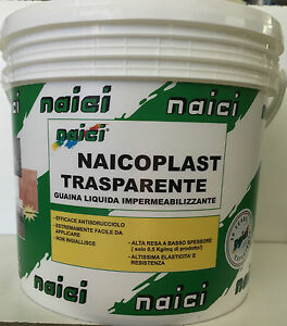 GUAINA TRASPARENTE NAICI IMPERMEABILIZZANTE TERRAZZE BALCONI LT 5 ...
