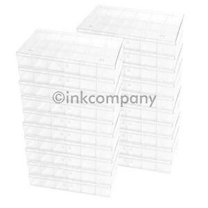 20x 18er Perlenbox Sortierkasten SCHMUCK PERLEN transparent Sortierkästen