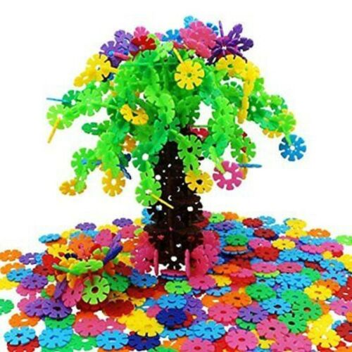300pcs Creative Kids Flakes Interlocking Plastic Disc Set Stem Construction Toy