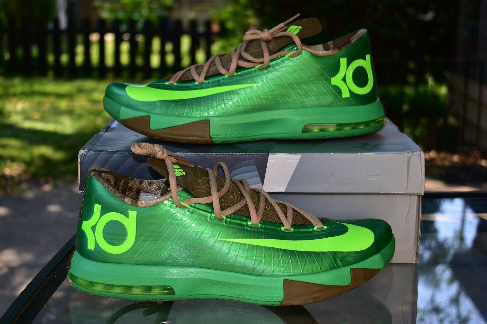 c927e58b90b9 Nike KD VI 6 6 6 Gamma Green - Flash Lime Bamboo 599424-301 Men s ...