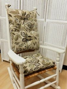 Image Is Loading Rocking Chair Cushion Set Indoor Outdoor Use Multi