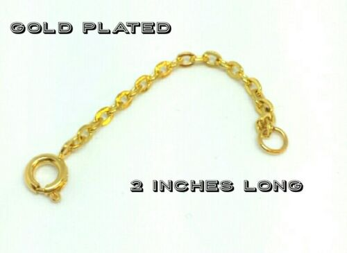 """Gold plated extender chain 2/"""" long"""