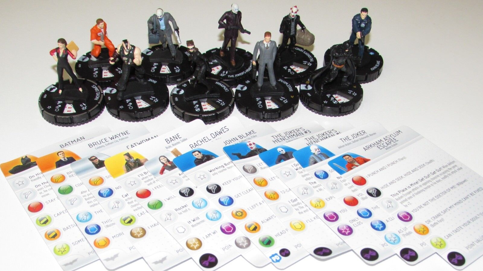 The Dark Knight Rises Set Complet 201-210 Exclusif Dc Heroclix