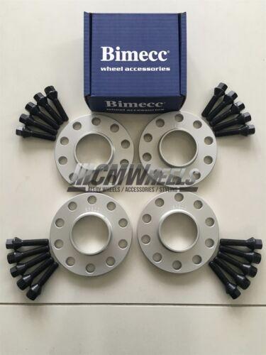 BMW E90 E92 E93 M3 2 x 12mm 2 x 15mm Silver Alloy Wheel Spacers Black Bolts