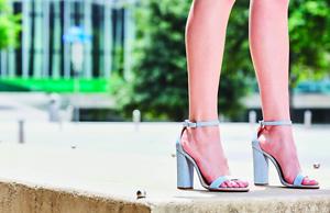 85897ea8998 NEW Schutz Enida Blue Leather Cork Women s Block Heel Sandals