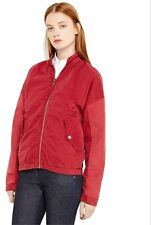 NEW $795 SILENT DAMIR DOMA JABRUM RED COTTON BOMBER JACKET Italy Made Women's S