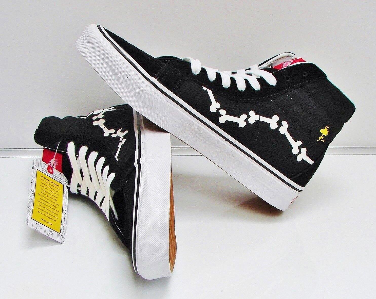 Vans Sk8 Hi Reissue Peanuts Snoopy Bones Black VN0A2XSB0HL Men's Size  11.5