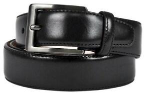 Taurus-Mens-Belt-Casual-Dress-Black-Top-Grain-Italian-Leather-Size-42-Inches