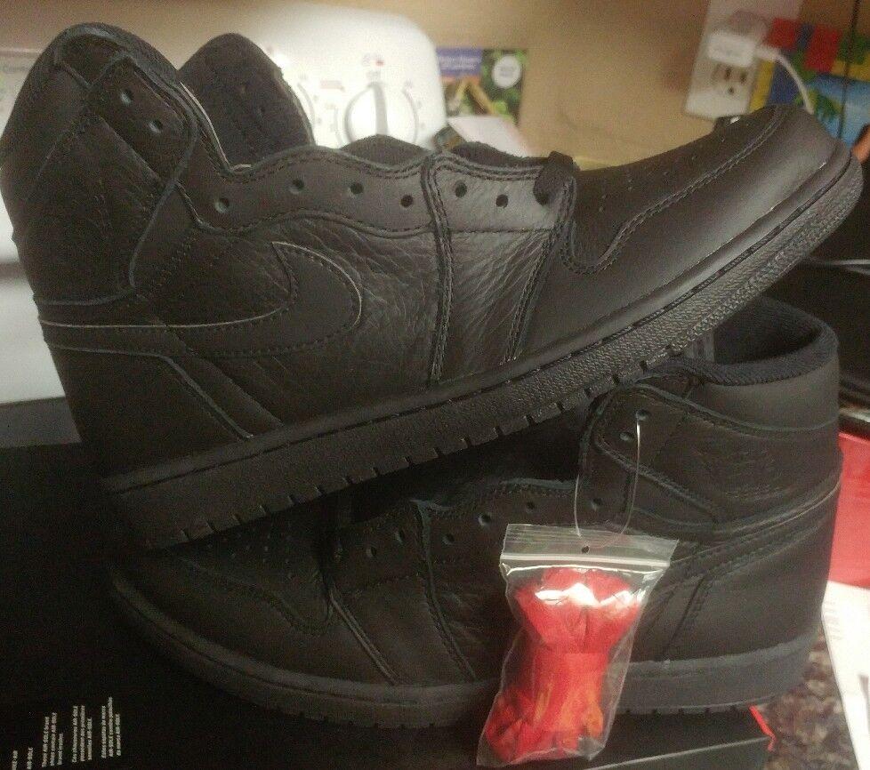 Nike Air Jordan 1 RETRO HIGH 555088-022 OG TRIPLE BLACK PACK 555088-022 HIGH banned size 14 xi ebcffc