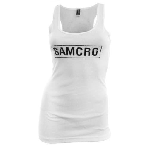 Sons of Anarchy Women/'s SAMCRO Tank Top White