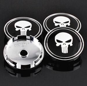 For Legacy Forester Tribeca WRX Wheel 4PCS Wheel Center Cap Skull 61mm/56mm ABS