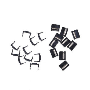 10X FC-10P IDC 2.54mm Connector Female Header 10pin 2x5 JTAG ISP Socket Black ZY 601404091191