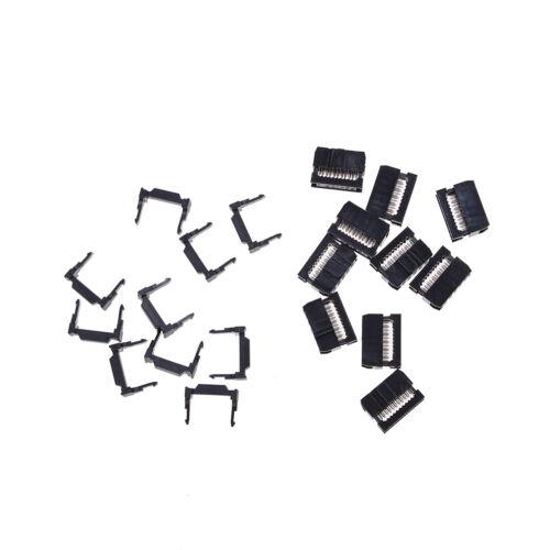 10X FC-10P IDC 2.54mm Connector Female Header 10pin 2x5 JTAG ISP Socket BlackJ/&C