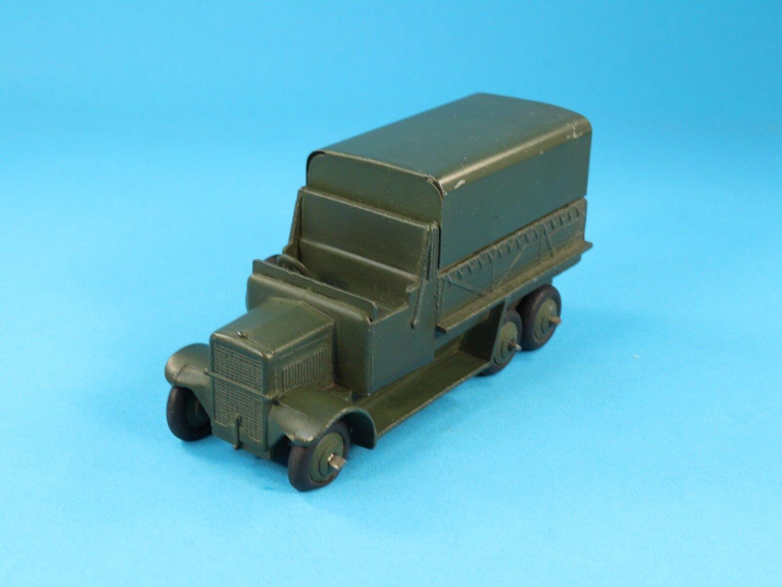 1   43 dinky spielzeug n. 151b carro militare 6 ruote coperto - 1947   49 [ov3-28]