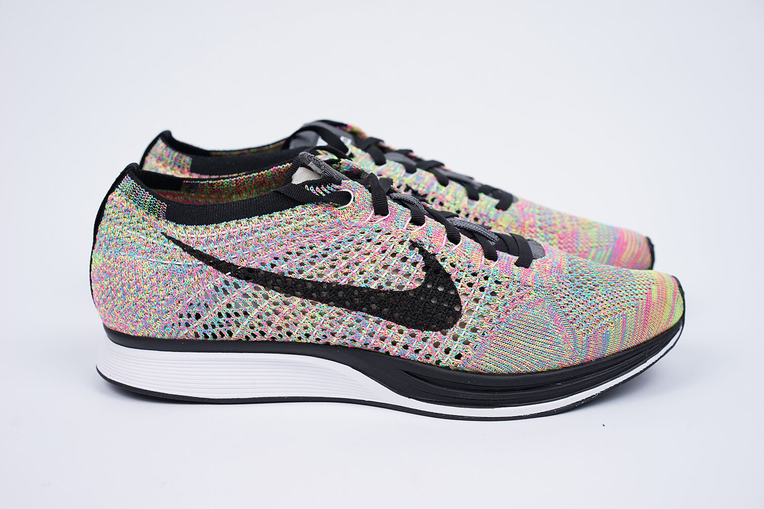 2018 Nike Flyknit Racer  -  Rainbow  -  US9 UK8 EU42.5  -  HTM  -  Fragment Wild casual shoes