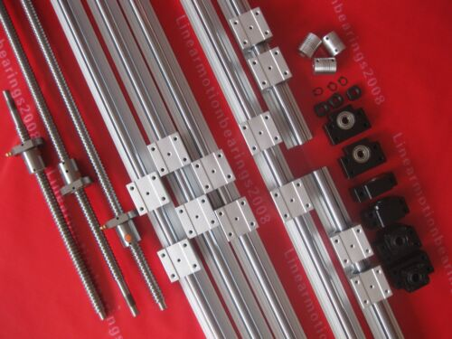 BK//BF10+3 couplings Free shipping 3 Lead screws ballscrew 3set SBR rails