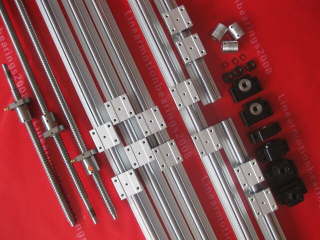 Metal Spindles, nuts and blocks as a whole set
