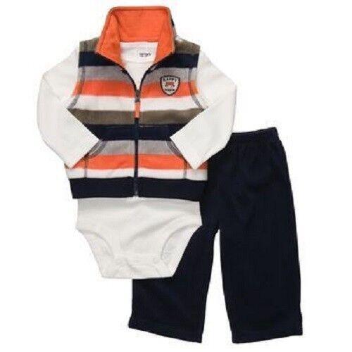 Bodysuit /& Vest Set ~ Size Newborn Carter/'s 3 Piece Little Ranger Pants