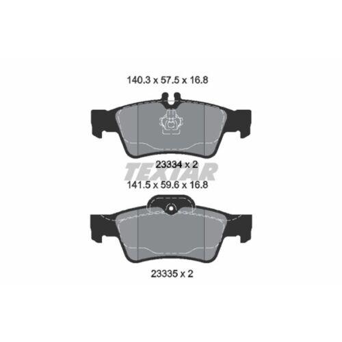 Textar Bremsscheiben Beläge Hinten Mercedes W211