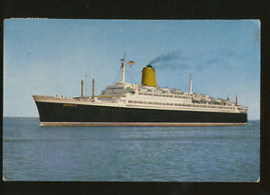 really cheap picked up united kingdom Details about 1960 TS Bremen Postcard - North German Lloyd