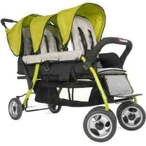 Childcraft The Trio Sport Triple Tandem Stroller, Lime | eBay