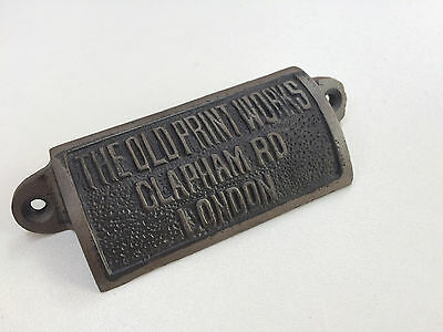 CAST IRON Old Print Works CLAPHAM DRAWER HANDLE CUP PULL KITCHEN CUPBOARD DOOR