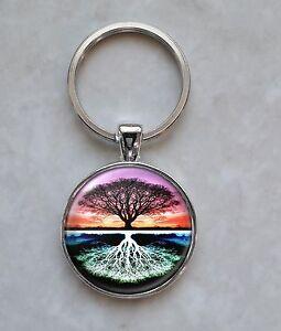 Tree keyring Tree Keyfob Picture Tree Keyring